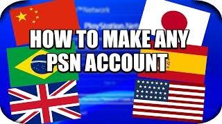 PS4 - How To Make A PSN Account! (China,USA,UK,Japan Account)