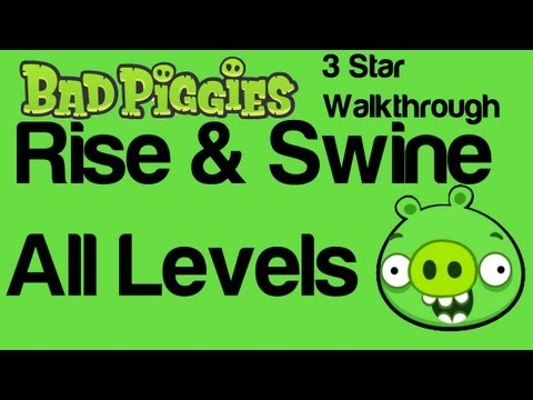 Bad Piggies Rise and Swine All Levels 2-1 to 2-IX 3 Star | WikiGameGuides