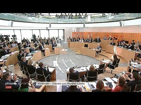 Plenarsitzung des Hessischen Landtags zum Fall Lübcke  ...