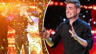 Video The FUNNY Magician get GOLDEN BUZZER Britain's Got Talent 2017 MP3, 3GP, MP4, WEBM, AVI, FLV Desember 2018