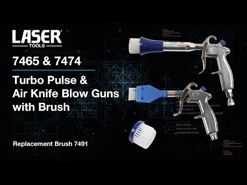 7465 & 7474 | Turbo Pulse & Air Knife Blow Guns with Brush