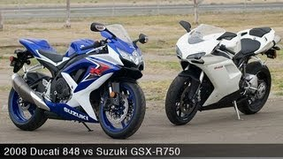 8. 2008 Ducati 848 vs Suzuki GSX-R750 - MotoUSA