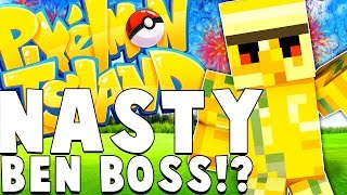 NASTY BEN BOSS Pokemon Battle - Minecraft PIXELMON ISLAND - Pokemon QUESTS