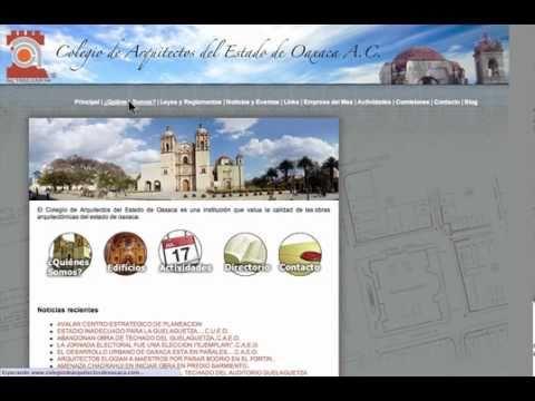 Página Web para un Colegio de Arquitectos