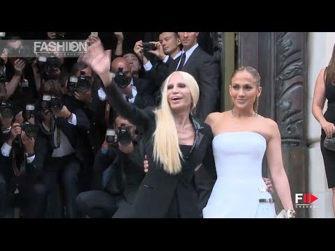 """JENNIFER LOPEZ"" at Atelier Versace Fall 2014 Show in Paris by Fashion Channel"
