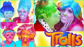 I hope you enjoy this compilation of all the Trolls makeup tutorials I have done! There is Poppy and King Peppy, Bridget( lady glitter sparkles), and King Gristle, Branch and Grandma Rosipuff. We put these makeup tutorial transformation together for you. We hope you love it! Little branch and Grandma Rosiepuff get a happily ever after video. We hope you enjoy this makeup tutorial and transformation! Branch's Grandma doesn't die today!We just love costumes and cosplay! Some of my favorite characters are Lady Glitter Sparkles, aka Bridget, Poppy, Branch, King Gristle and more!I am doing a makeup tutorial on the sweet Bridget! She kind of gets her own Cinderella / princess story and happily ever after! Wonder woman in in proximity! I had a BLAST!!!!! I love that kind gristle and bridget kiss, just like poppy and branch kiss! I have transformed myself into the Goddess Te fiti from the new movie from Disney Moana. From Lava monster to a beautiful Goddess of nature, Te fiti. Check out the video on my channel.Let me know if you would like for me to do more disney princess or any disney character transformation makeup, costume, and beauty tutorial. Here are some of the products I used in the video:Morphe 35 c Pallette:  https://goo.gl/dELuSKGreen Paint by Paradise: https://goo.gl/5djKD2Please check out our other videos on our DIsney Princess Channel where we have Moana toys, surprises, giant eggs, and more! I love DISNEY PRINCESS IRLHope you enjoy this Moana IRL makeover and costume on my channel.  I just LOVED having the opportunity to dress up like Moana. Elena makeover tutorial for girls coming soon Halloween costumes! We love the Barbie movies and the Disney movies especially Frozen, Tangled, Sleeping Beauty, Cinderella, Aladdin, The Little Mermaid, Beauty and The Beast, as well as dressing up in fancy costumes, playing with toys, eating cake, chocolate and candy and opening surprise eggs and kinder surprise eggs - so we made a HD video for kids filled with the Disney P