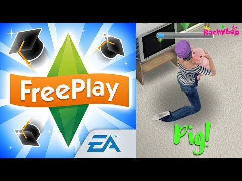 The Sims FreePlay TEACUP PIG! Downtown High Update!