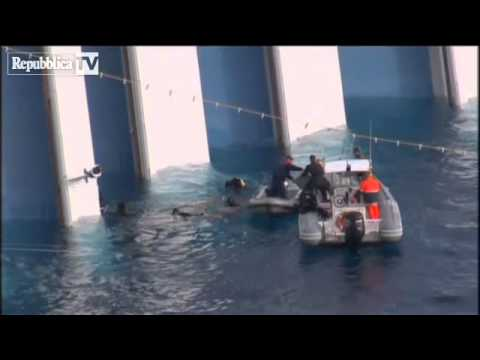 Costa Concordia: human remains found at cruise ship wreck site