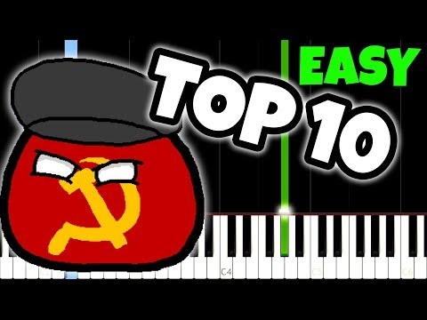 10 Russian Songs You've heard, but dont know the name [Easy Piano Tutorial]