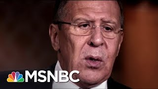 Keir Simmons discusses his interview with Russian Foreign Minister Sergei Lavrov, who remarks about President Trump and...