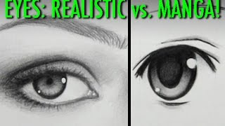 Drawing Time Lapse: Real Eyes vs. Manga Eyes