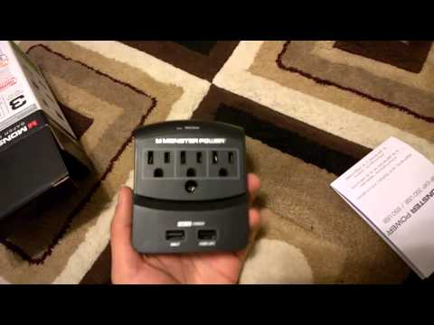 Monster 3-Outlet & 6-Outlet Surge Protector