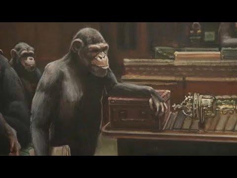 Στο σφυρί οι χιμπατζήδες του Banksy
