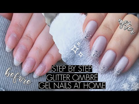 Gel nails - DIY GLITTER GRADIENT/OMBRÉ GEL MANI  The Beauty Vault