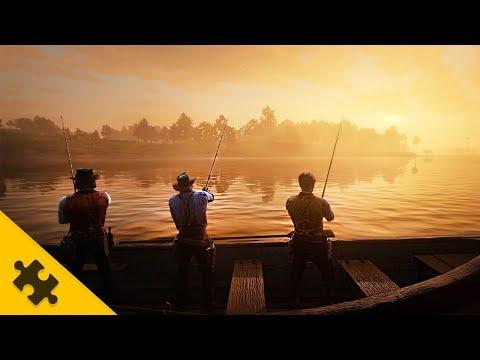 ГЕЙМПЛЕЙ RED DEAD REDEMPTION 2 - РЫБАЛКА, розыск, Лагерь в лесу (Red Dead Redemption 2)