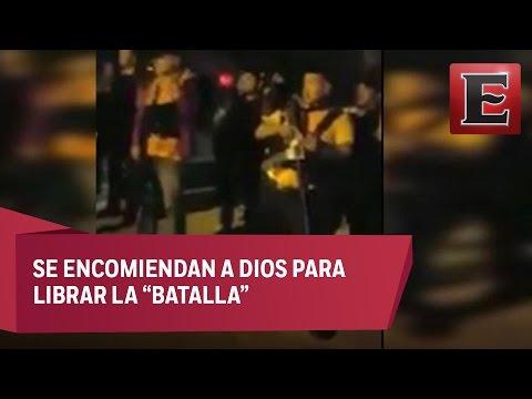 """""""Ritual religioso"""" de integrantes del Cártel del Golfo antes de los enfrentamientos"""