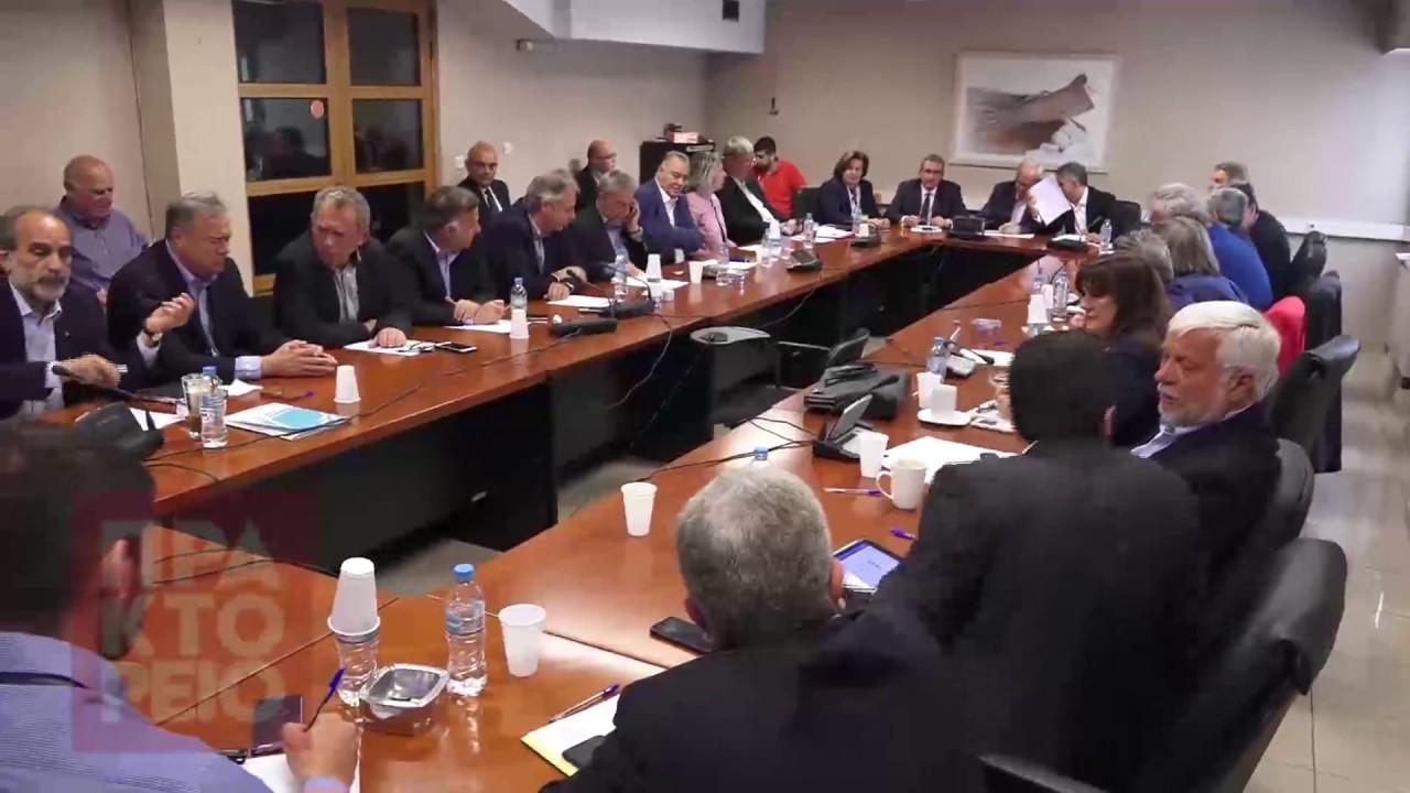 Ο Υπουργός Αγροτικής Ανάπτυξης Ε. Αποστόλου στη συνεδρίαση του ΔΣ