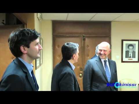 Συνάντηση του Ε. Τσακαλώτου με τον Π. Μοσκοβισί