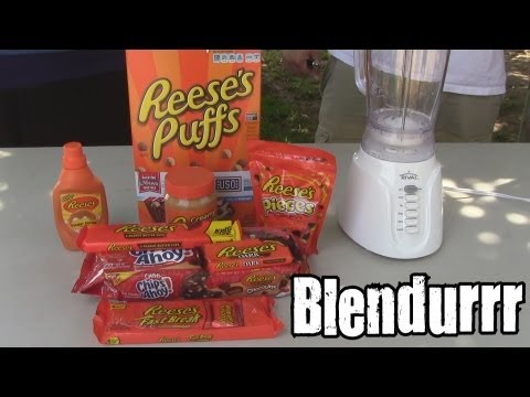 reeses - Welcome to blendurrr!!! On this show we will take items from past we shorts and other misc shows and blend them together to see if it's an improvement. Today...