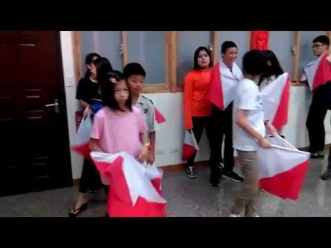 台中崇正紀念晚會旗舞表演練習版