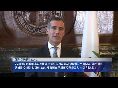 LA 예산안 '노숙자·치안 중점' 4.20.16 KBS America News