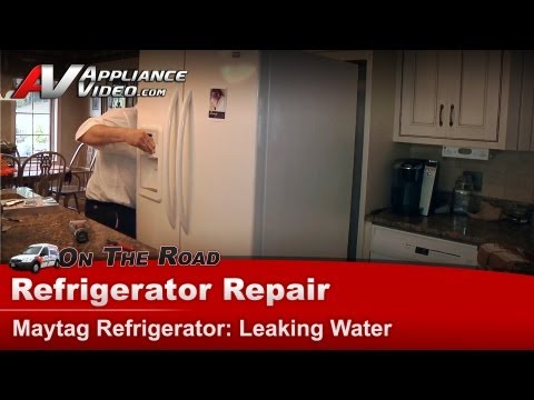 Maytag Refrigerator Repair – Leaking water – MF12569VEQ2