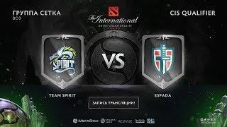 Team Spirit vs Espada, The International CIS QL, game 2 [Lex, 4ce]