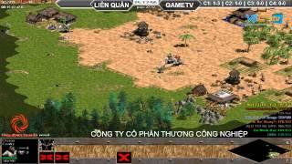 Liên Quân vs GameTV C2T2, ngày 30/08/2015, game đế chế, clip aoe, chim sẻ đi nắng, aoe 2015