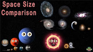 Space Size Comparison YouTube by Kids Learning Tube