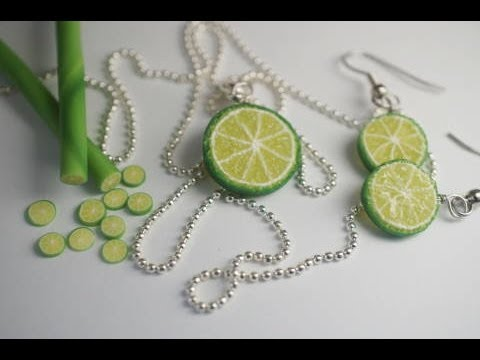 Real Time Lime Cane Tutorial, Polymer Clay Miniature Food Tutorial