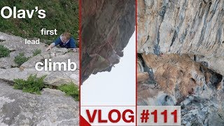 OLAV'S FIRST LEAD CLIMB | VLOG #111 by Magnus Midtbø