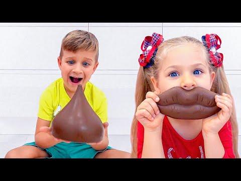 Diana y Roma - dulces y caramelos, Desafío para niños