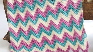 Video How to Crochet An Afghan: Chevron or Ripples in Any Size MP3, 3GP, MP4, WEBM, AVI, FLV Juli 2018