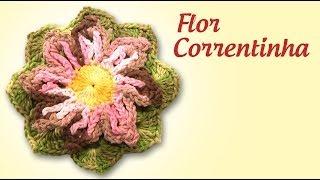 Flor Correntinha Em Crochê (passo A Passo) - Cristina Luriko