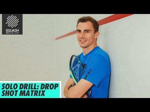 Squash Tips: Drop Shot Matrix Solo Drill With Nick Matthew