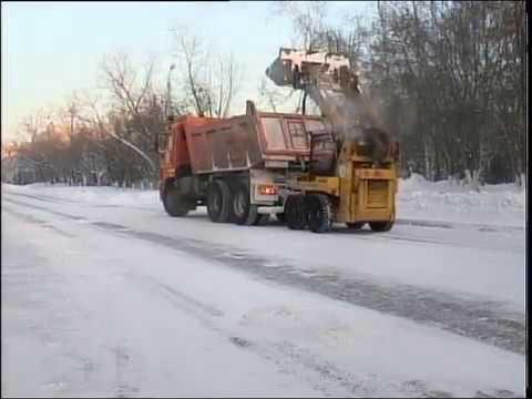 рус Последствия снегопада (видео)