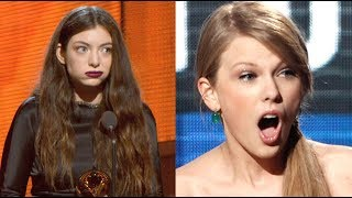 Taylor Swift Vs. Lorde: Better Surprised Face?! (GRAMMYS 2014) Subscribe to Hollywire  http://bit.ly/Sub2HotMinute Send...