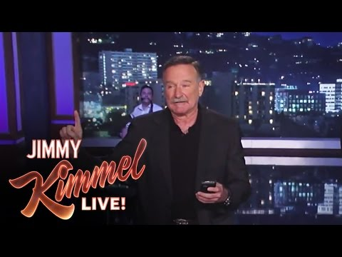 Williams - Jimmy Kimmel Live - Robin Williams Helps Matt Damon with His Monologue Jimmy Kimmel Live's YouTube channel features clips and recaps of every episode from th...