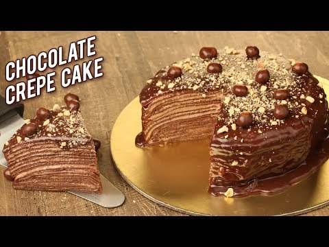 Chocolate Crepe Cake Recipe – Homemade Chocolate Cake Without Oven – Eggless Cake Recipe – Bhumika