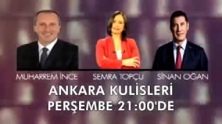 Milliyetçi Hareket Partisi Genel Başkan Adayı Sinan Oğan ve CHP Yalova Milletvekili Muharrem İnce, 16 Şubat 2017 Perşembe günü saat 21.00'de  Halk TV ekranlarında yayınlanacak Ankara Kulisleri programının konuğu olacak.