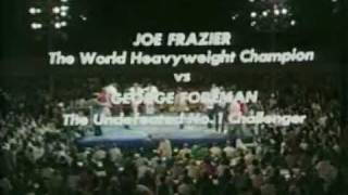 George Foreman Vs Joe Frazier I