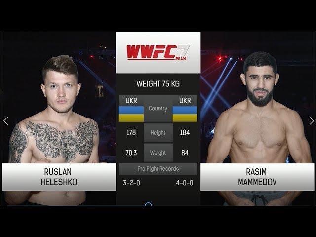 WWFC7 Ruslan Heleshko vs Rasim Mamedov Weight 75