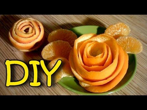 come fare una rosa con un'arancia