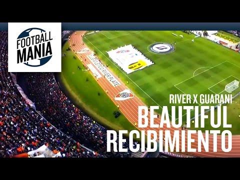 River Plate Beautiful Recibimiento vs. Guaraní (PAR) - Los Borrachos del Tablón - River Plate