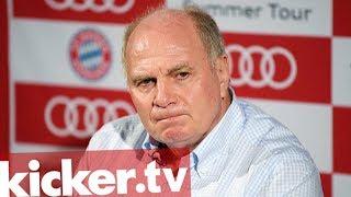 """Auf dem Transfermarkt wird dieser Tage mit Millionensummen jongliert, dass es den meisten Fans schwindelig wird. Auch Bayerns Präsident Uli Hoeneß wundert sich über das Geschäft, teilte sich den Journalisten gewohnt direkt mit und machte diese gleich mitverantwortlich für die  aktuelle Situation. Die Journalisten sollten nicht jeden """"Scheißdreck"""" und vor allem auch weniger schreiben. Außerdem gab es ein klare Ansage an die Spieler in seinem Verein. Verträge werden nur vom FC Bayern beendet, von niemandem sonst."""