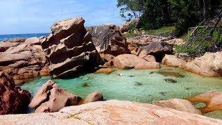 Seychellen 2017 La Digue Anse Caiman Hidden Natural Pool Tide Pool Seychelles Lonely Dream Beach Gopro 4K UHD Anse...