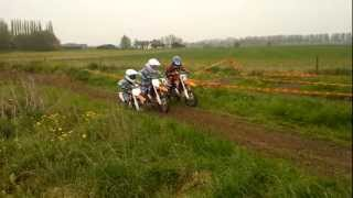 4. KTM 65 sx vs KTM 50 sx Training: start, shift gears, jumps and short corners