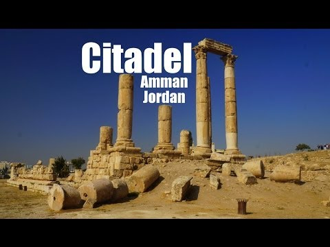 Visiting Amman Citadel in Jordan