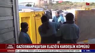 Gaziosmanpaşa'da Elazığ'a Yardım Tırı - Akit Tv