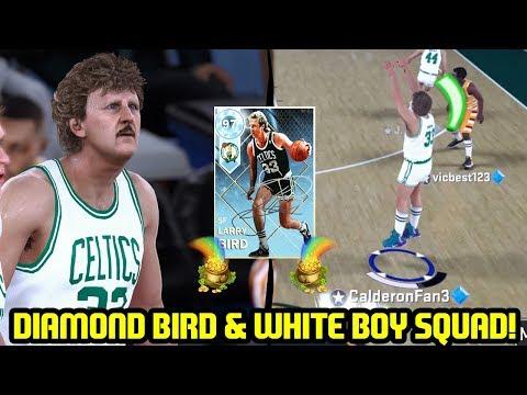 DIAMOND LARRY BIRD CARRIES WHITE BOY SQUAD! NBA 2K18 MYTEAM SUPERMAX GAMEPLAY (видео)
